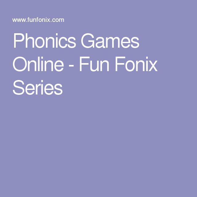 Phonics Games Online - Fun Fonix Series