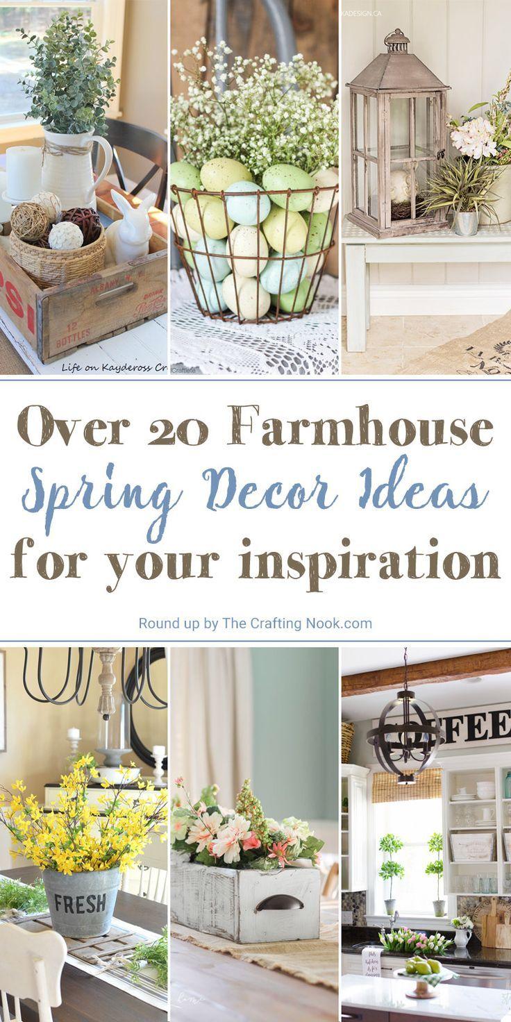 20 farmhouse spring decor ideas farmhouse farmhouse decor rh pinterest com
