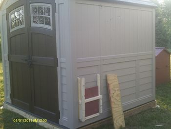 Rubbermaid Storage Shed as Coop