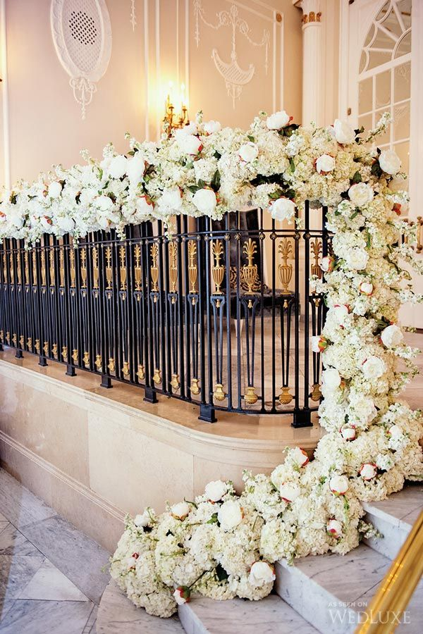 church wedding decorations candles%0A Luxury wedding decor  WedLuxe  u     A Glamorous Montreal Wedding