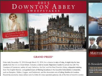 The 2015 Downton Abbey Sweepstakes