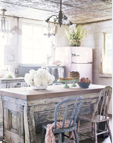 Eclectic kitchen.