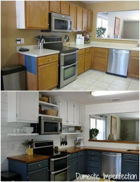 diy kitchen remodel on a budget before and after 1700 rh pinterest com