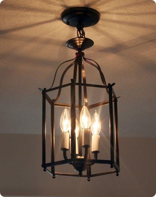 Foyer Chandelier Makeover : Best light fixture makeover ideas on pinterest rust