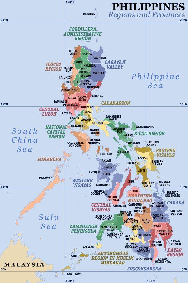 A Clickable Map Of The Philippines Exhibiting Its 17 Regions And
