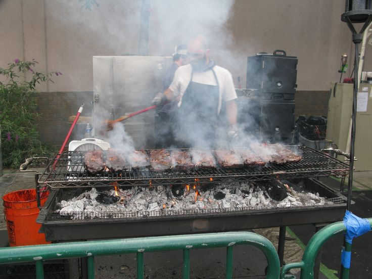 """Sparks """"Best of the West Rib Cookoff"""", every Labor Day.  Can't you just smell these ribs cooking?"""