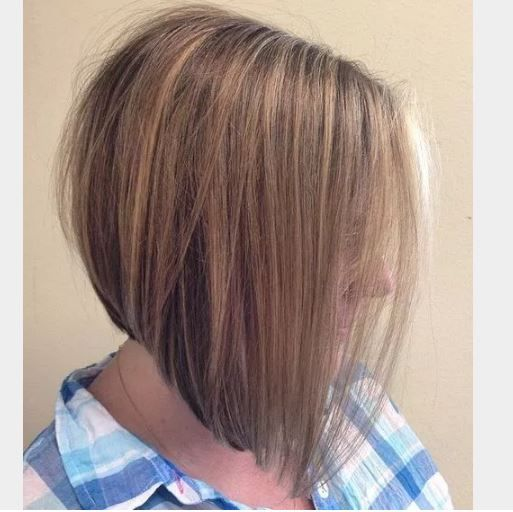 40 lı yaşlar acili bob saç modeli ve rengi