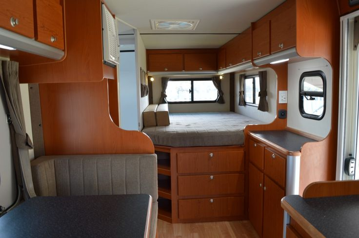 Large format motorhome with french bed