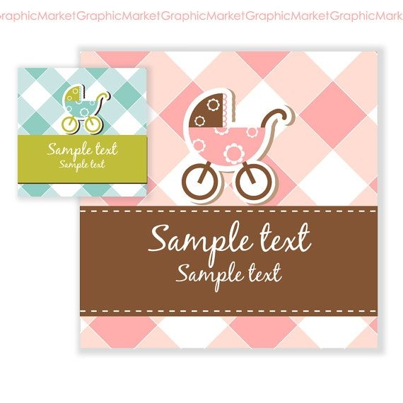 Hand Drawn Baby Shower Card/Invite - Luvly Marketplace | Premium Design Resources #cards #digitalcards
