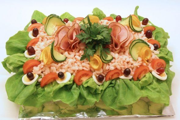 another sandwich cake, can make this with home made custom shapped (as needed) focaccia