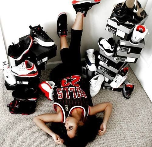 #jordans #chicks #kicks