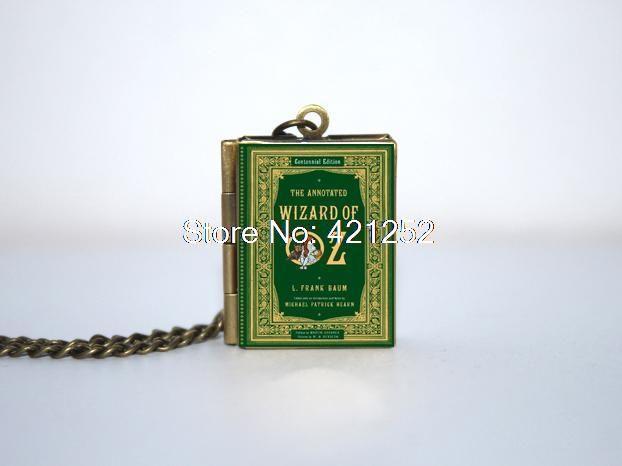 12 шт. волшебник из страны оз обложка книги медальон ожерелье брелок серебро и бронза тон B1032