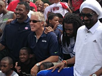 Seattle Seahawks coach Pete Carroll returned to Southern California the past weekend for a youth football event at Crenshaw High School.