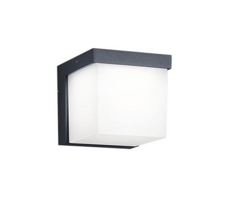 Applique extérieure une lumière en fonte d'aluminium  Coloris anthracite  Éclairage LED intégrée