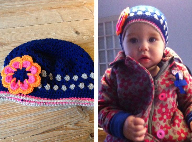 Crochet baby beanie - 9 months size