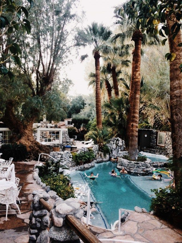 The Grotto, a mineral-waters pool at Two Bunch Palms (Sarah Sherman Samuel)
