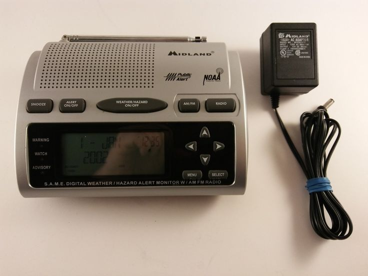 Midland Emergency Weather Radio SAME NOAA Tornado Digital Alert AM/FM FREE SHIP! #Midland