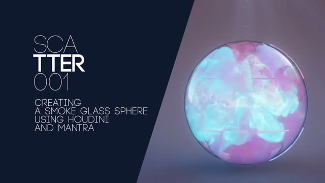 #Houdini Smoke Glass Sphere Tutorial: A tutorial about creating a nice image based on simulating pyro FX in a glass sphere. We cover the sim part, the rendering part in Mantra and a simple comp in After effect. I hope you will enjoy it ! #Houdini #tutorial #pyro