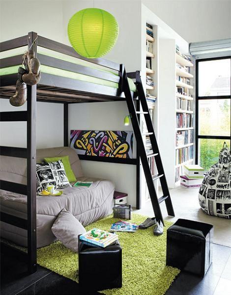 dormitorio-juvenil-cama-alta