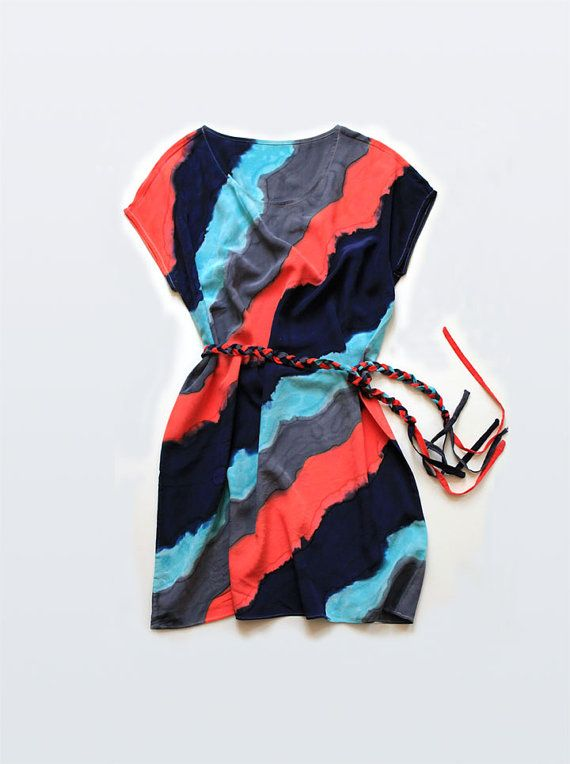 I'm crazy about the colors in this silk hand painted dress #pinterest #etsy #handmade