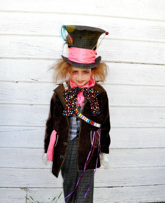 Mad  hatter costume  Alice in   wonderland inspired boys  kids children halloween costumes school event.. $289.00, via Etsy.