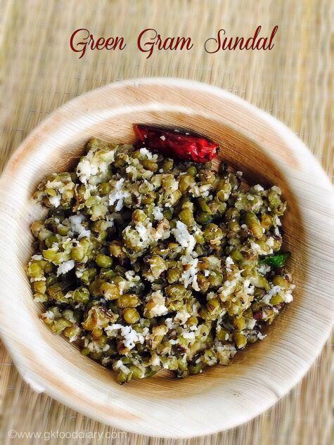 Green Gram Sundal Recipe | Pachai Payaru Sundal | Sundal Recipes