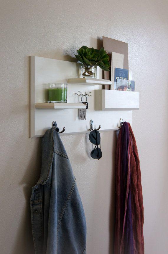 Entryway Shelf Coat Hooks Key Hooks Mail