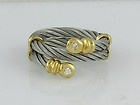 PHILIPPE CHARRIOL 18K DIAMOND CABLE RING AUTHENTIC GORGEOUS - http://www.diamondsandgemstones.net/charriol-jewelry/#