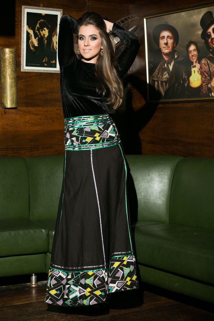 Saia Las Ramblas Gaudi #mundoshakti #boêmia #moda #boho #bohochic #boêmiaurbana #outonoinverno