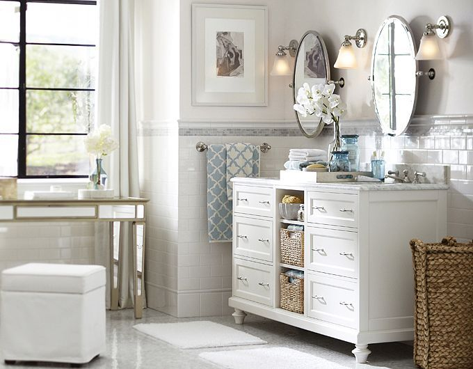 Idea from pottery barn for bathroom time to customize for Pottery barn bathroom designs