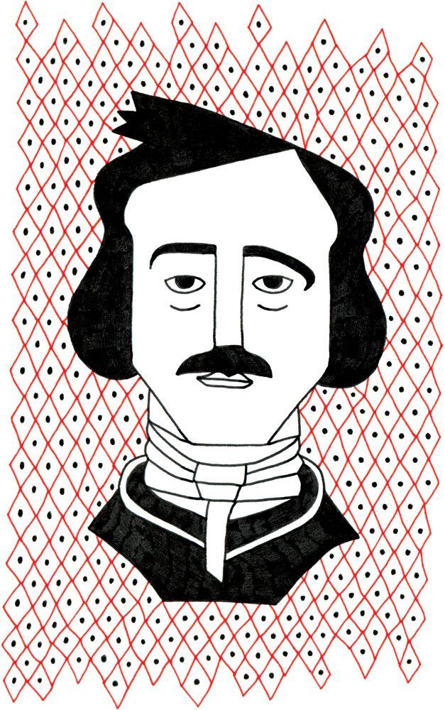 Edgar Allan Poe    Scrittore statunitense inventore del racconto poliziesco, della letteratura dell'orrore e del giallo psicologico.   Disegno le cose
