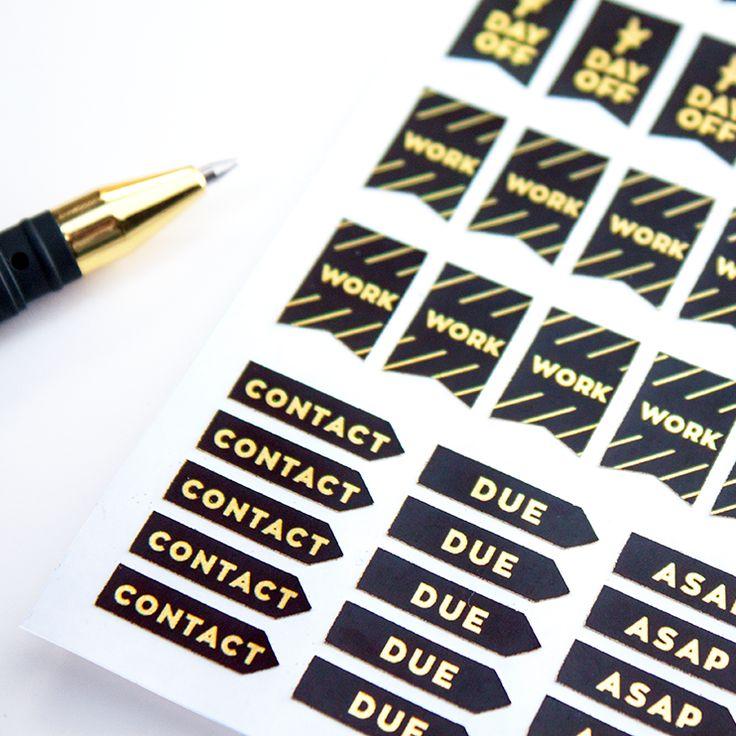 Work Planner Stickers - Metallic Calendar Stickers – Sessa Vee