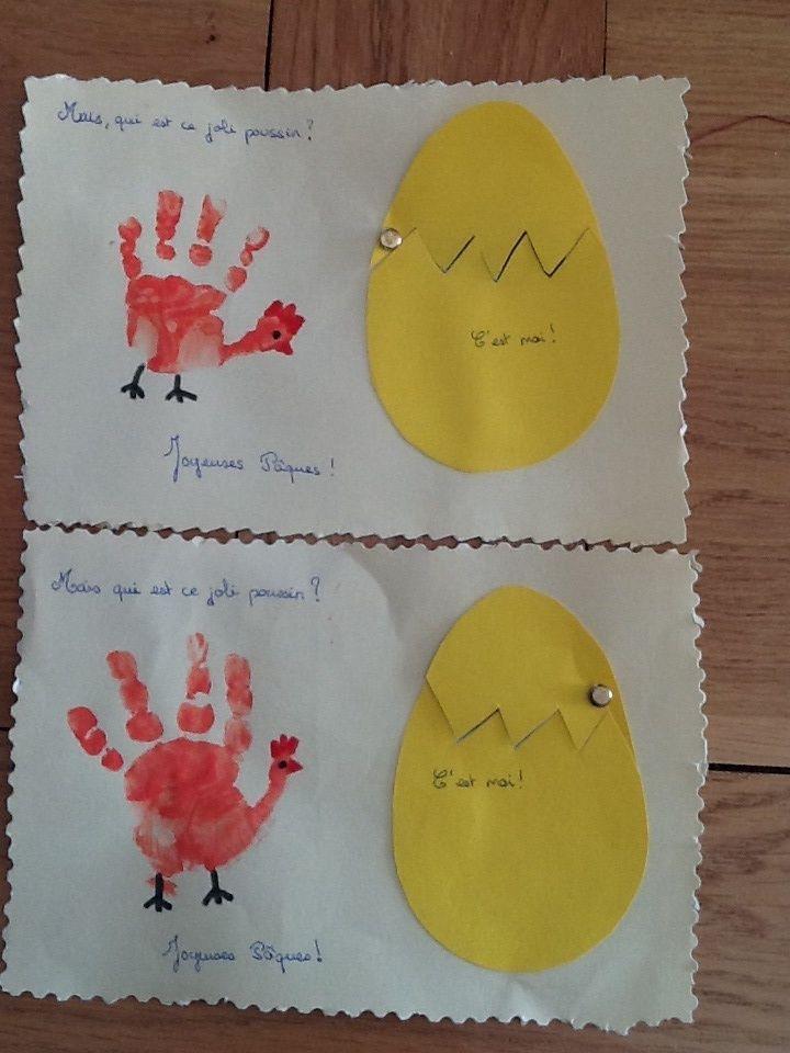 Empreintes Mains Poules Pour P Ques Empreintes Mains Pieds Pinterest