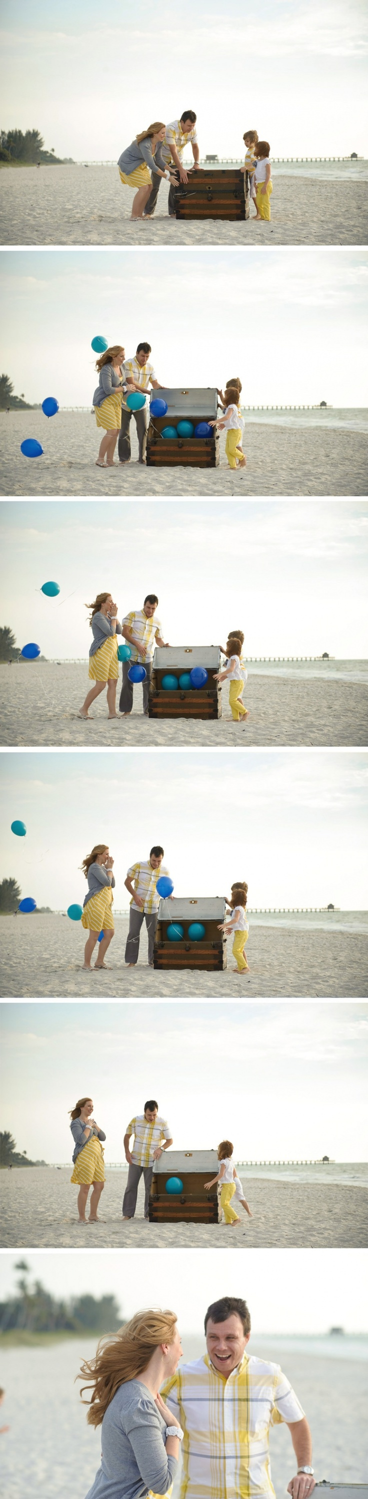 family session - new baby gender reveal.... if we were finding out this would be cute!