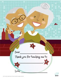 Adorable FREE, printable Grandparents Day Cards!