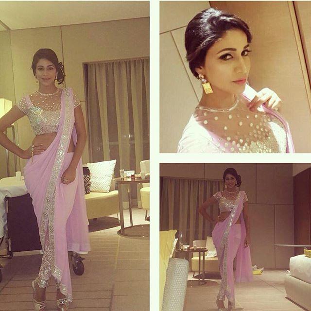 @itsmelavanya looking beautiful in @houseofneetalulla pink concept saree.  #neetalulla #conceptsaree #indianfusion #indiandesigner #houseofneetalulla #czarinaofindianfashion