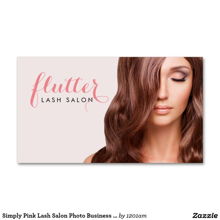 hairdresser resume%0A Simply Pink Lash Salon Photo Business Card