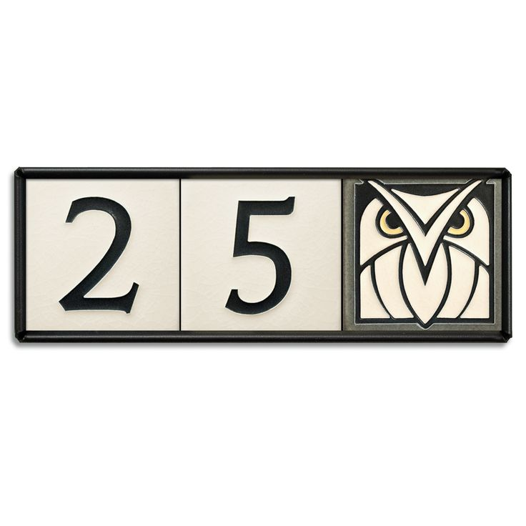 4x4 house number frame holds three tiles home for House number frames