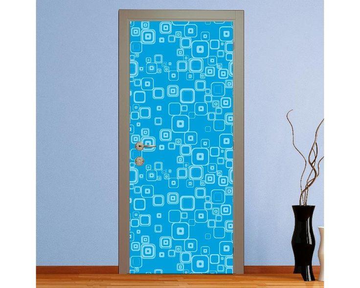 Blue rectangles, αυτοκόλλητο πόρτας , δείτε το!