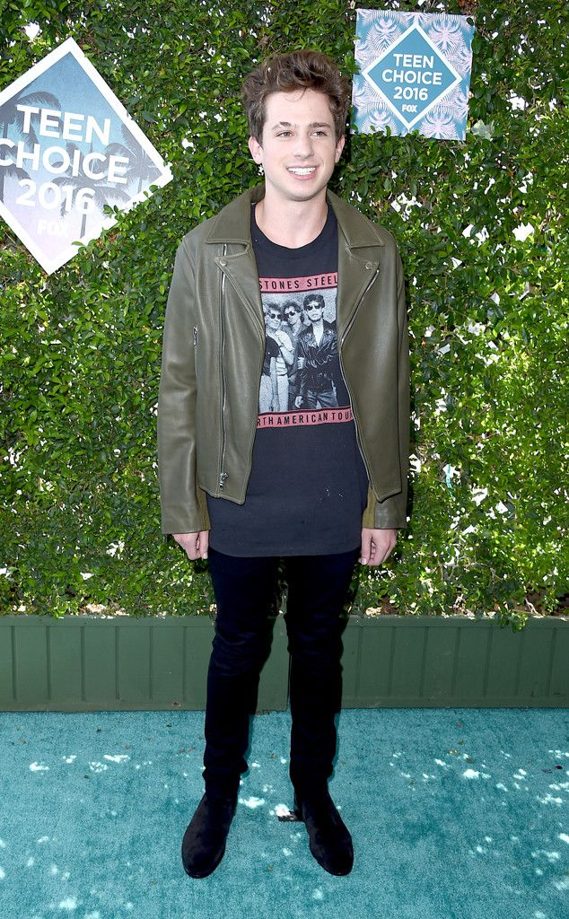 """Charlie Puth from Teen Choice Awards 2016 Red Carpet Arrivals  Before his performance on tonight's live broadcast, the """"One Call Away"""" singer shows off his rock 'n' roll style."""