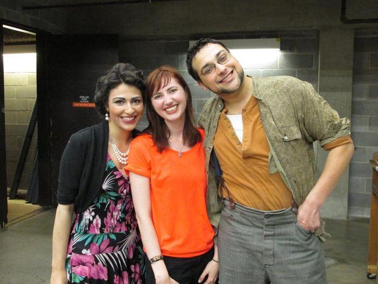 Kimberly Grader, Becky Klementowski & Daryl Acevedo backstage at Carousel