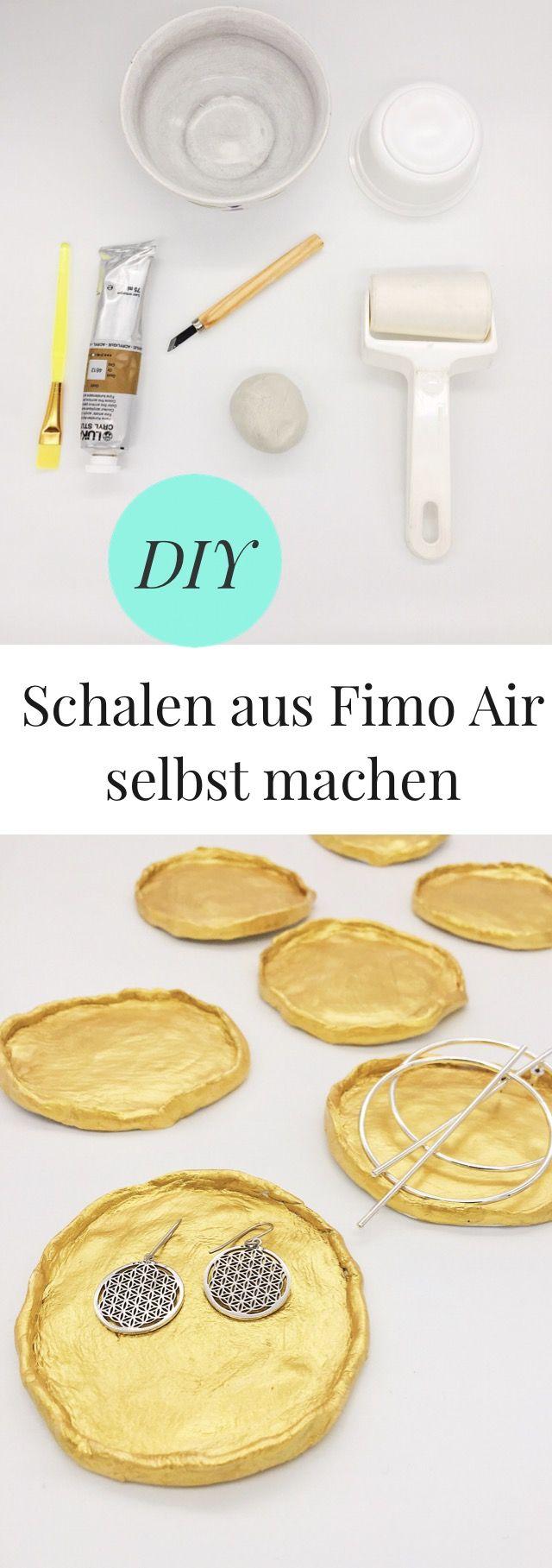 DIY – Schmuck Schalen aus Fimo Air Modelliermasse selber machen