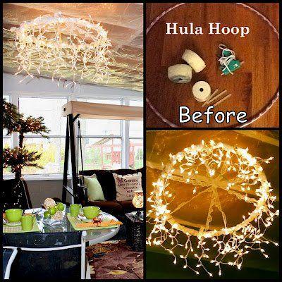 Lovely DIY Hula Hoop Chandelier – DIY  Craftshttp://www.pinterest.com/boogiewipes/outdoor-entertaining/