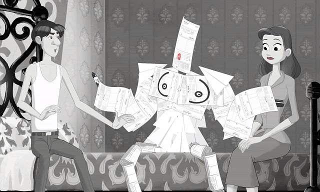 Paperman – parodia