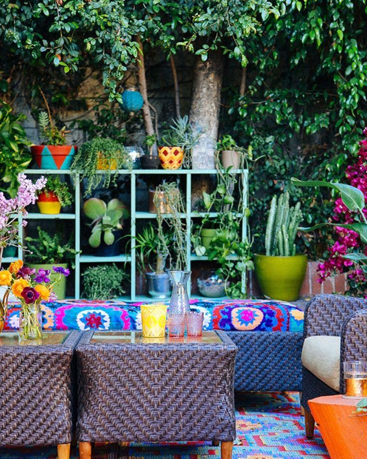 Colorful Outdoor Deck Decorating Ideas: Best 25+ Bohemian Patio Ideas On Pinterest