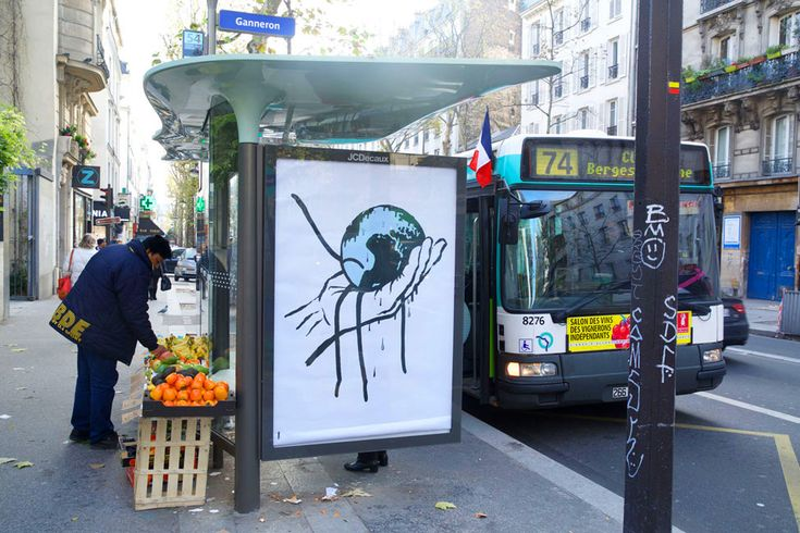 Brandalism: 82 Artists Install 600 Fake Ads Across Paris to Protest the COP21 Climate Conference