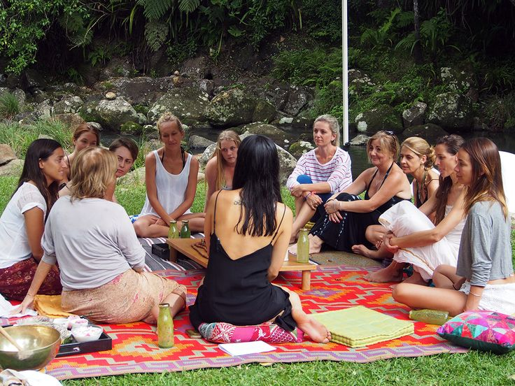 Womens sharing circle at the OM Cleanse retreat Australia