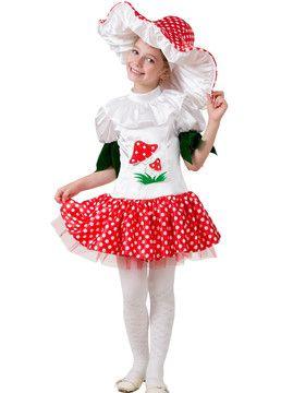 Карнавальный костюм Грибок- Девочка Батик