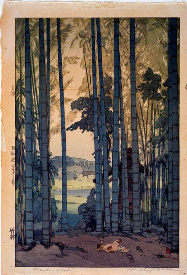 Yoshida Hiroshi (1876-1950, born Kurume; died Tokyo, active Japan), Bamboo Wood, 1939, Showa period (1926-1989), Color woodcut, Bequest of R.C. Moore, 1974.0028.