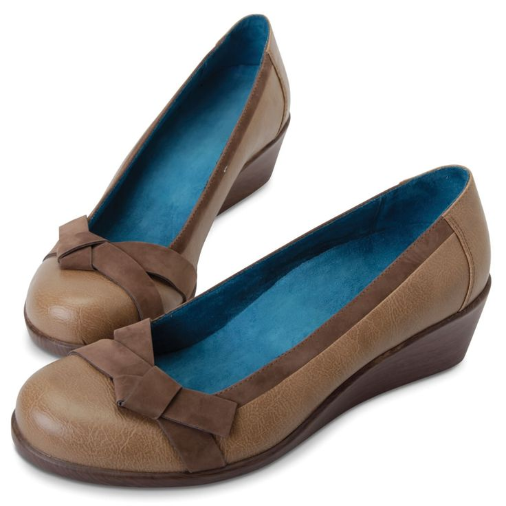 Blue dress tan shoes vionic